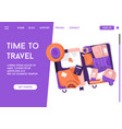 landing page time to travel concept vector image