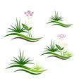 landscape logo design set vector image