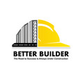 logo design for a construction company vector image
