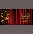 luxury christmas background design for holiday vector image vector image
