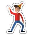 man dancing party celebration vector image vector image
