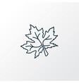 maple leaf icon line symbol premium quality vector image