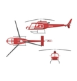 Medical helicopter in flat style vector image vector image