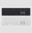 modern grey laptop bluetooth keyboard pack vector image vector image
