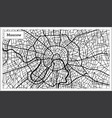 moscow russia city map in black and white color vector image vector image