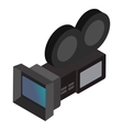 Movie camera isometric 3d icon vector image vector image