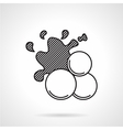 Paintball balls black line icon vector image