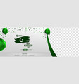 pakistani independence day sale banner cover vector image