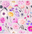 pattern with yellow and pink garden flowers vector image