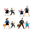 people go to school vector image vector image