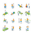 physiotherapy people 3d icons set isometric view vector image vector image