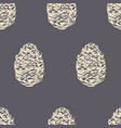 pinecone seamless pattern vector image vector image