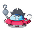 pirate ufo character cartoon style vector image