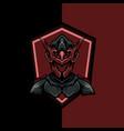 red warrior shield vector image vector image