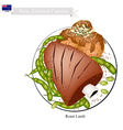 Roasted Lamb with Meat Balls Dish of New Zealand vector image vector image