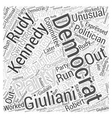 Rudy Giuliani Republican Word Cloud Concept vector image vector image