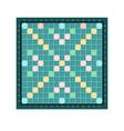 scrabble or erudite square board design with grid vector image