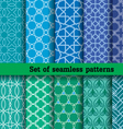set 2 of seamless patterns vector image