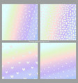 set of holographic backgrounds imitation of a vector image vector image