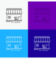 shop store market building shopping icon over vector image