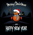snowman from basketball balls with sparklers vector image