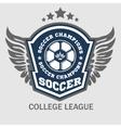 Soccer Badge - emblem on light background vector image vector image