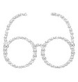 spectacles icon collage vector image vector image