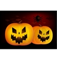 Two helloween pumpkins head isolated on vector image vector image