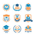 university badges school business identity vector image
