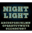Vegas Night Font vector image vector image