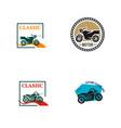 vintage motorcycle logo vector image vector image