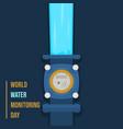 water meter vector image vector image