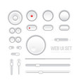 web ui elements design light gray vector image