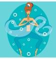 yoga in mediation vector image vector image