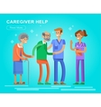 Young man and women caregiwer vector image