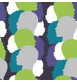 seamless pattern with colorful family silhouette vector image