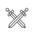 swords line icon sign on vector image
