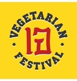 Vegetarian festival jay food sign vector image
