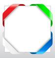 blank ribbon border vector image
