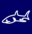 the image of a shark vector image