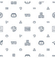 alphabet icons pattern seamless white background vector image vector image