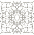 arabesque style floral damask black and white vector image