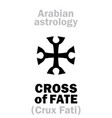 astrology cross of fate vector image vector image