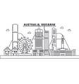 australia brisbane architecture line skyline vector image vector image