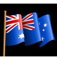 Australian flag on a black background vector image vector image