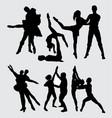ballerina dance silhouette vector image vector image