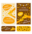 bashower invitation card template colored flat vector image