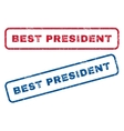 Best President Rubber Stamps vector image vector image
