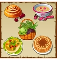 Big set of fresh and cooked food vector image vector image