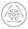 bio hazard icon vector image